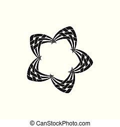 étoile, symbole, vecteur, logo, filet