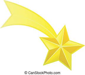 étoile, vecteur, tir