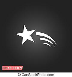 étoile, vecteur, tir, icône