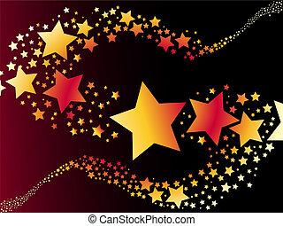 étoile, vecteur, tir, illustration