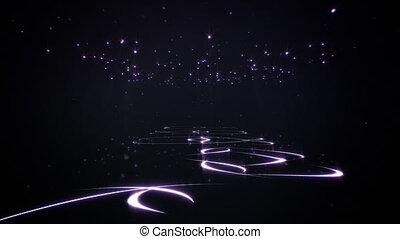étoiles, boucle, moquette