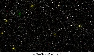 étoiles chute, coloré