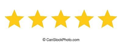 étoiles, cinq, rating.
