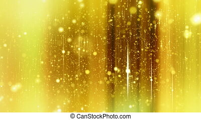 étoiles, fond, jaune