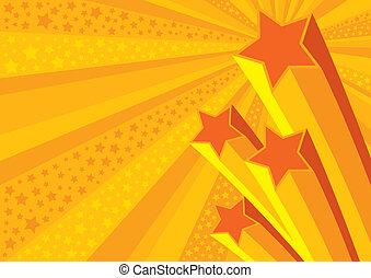 étoiles, fond, (vector)