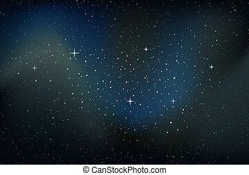 étoiles, gentil, fond