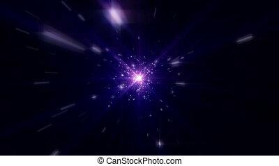 étoiles, lumière, mouche, espace, rayon