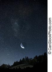 étoiles, lune