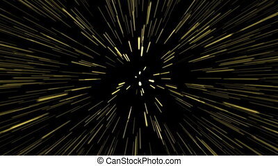 étoiles, piste, éclater, (loop)