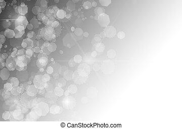 étoiles, résumé, bokeh, arrière-plan noir, scintillements, blanc