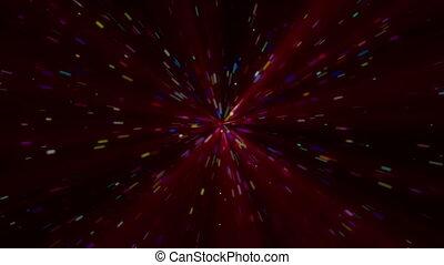 étoiles, rayon, explosion, couleur, particule