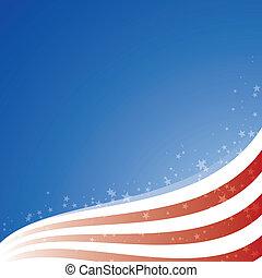 étoiles, usa, lumière, drapeau, vecteur, fond