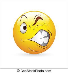 étrange, expression, smiley