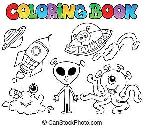 étrangers, livre coloration