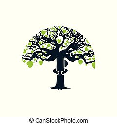 étreinte, arbre
