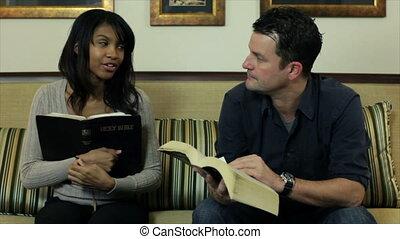 étude, bible, moule