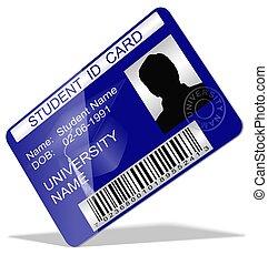 étudiant, carte identification