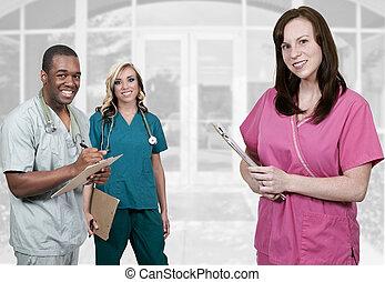 étudiants, monde médical