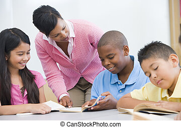 étudiants, prof, portion, focus), (selective, lecture, classe