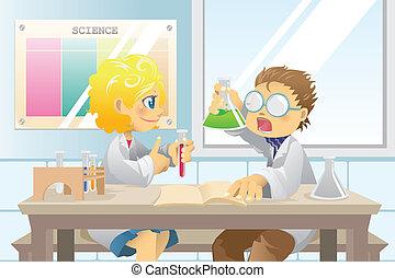 étudiants, projet science