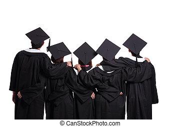étudiants, recherche, diplômé