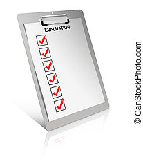 évaluation, liste