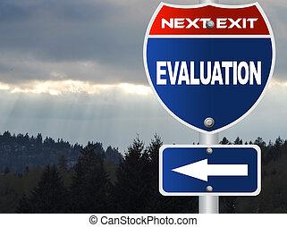 évaluation, panneaux signalisations