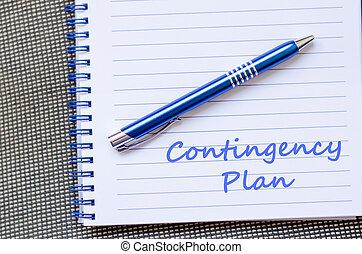 éventualité, cahier, écrire, plan