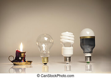 évolution, éclairage
