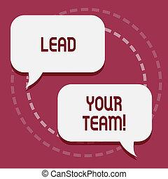 être, bon, ton, business, plomb, photo, projection, obtenir, écriture, showcasing, team., accomplir, main, goals., reussite, conceptuel, éditorial