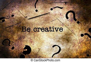 être, concept, grunge, créatif