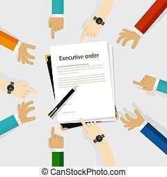 être, diversité, autour de, cadre, règlement, autorité, stylo, papier, signé, mains, président, ordre, participation