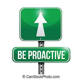 être, illustration, signe, conception, proactive, route
