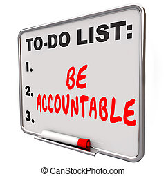 être, liste, blâme, crédit, accountable, responsabilité, prendre