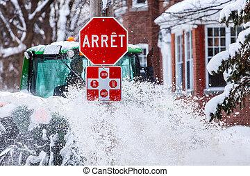 être, neige, francais, soufflé, signe, arrêt