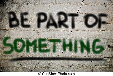 être, partie, concept, quelque chose