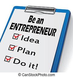 être, presse-papiers, entrepreneur