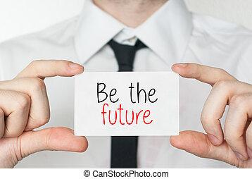 être, tenue, business, homme affaires, carte, future.