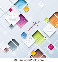 être, utilisé, toile, conception abstraite, boîte, fond, infographics