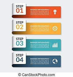 être, utilisé, toile, nombre, business, présentation, infographic, conception, boîte, bannières, template.