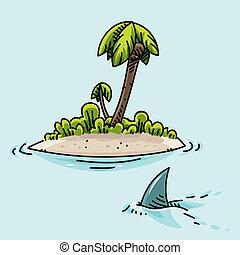 île, minuscule