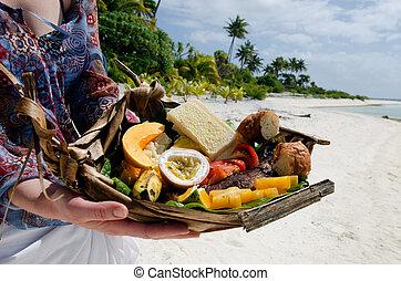 île, nourriture, abandonné, exotique