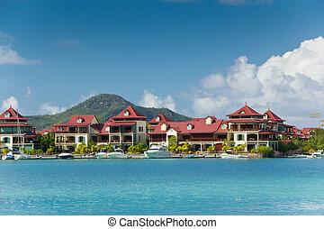 île, seychelles, éden, resedency