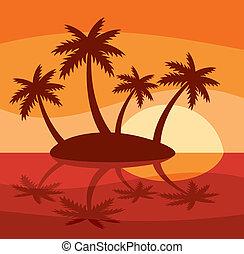 île tropicale, illustration