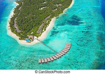île tropicale, maldives