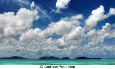 îles, défaillance, ciel, temps