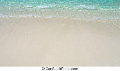 îles, thaïlande, lavage, plage, similan, petit, doucement, vagues