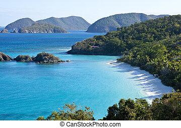 îles vierges, coffre, nous, baie