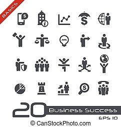 --, élémentsessentiels, ensemble, business, icône