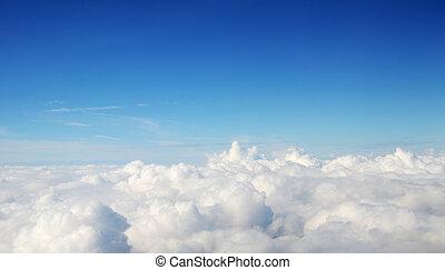 -, atmosphère, nuages, fond, ciel